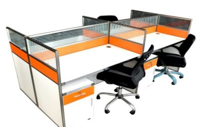 Multi Coloured Office Workstation Furniture Project #17